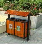 戶外垃圾桶大號環衛果皮箱分類室外校園公園景區鋼木不鏽鋼垃圾箱