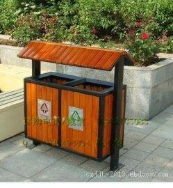 户外垃圾桶大号环卫果皮箱分类室外校园公园景区钢木不锈钢垃圾箱