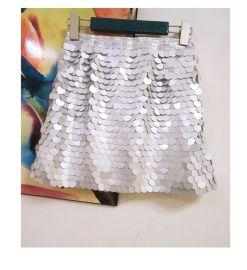 包臀A字裙大亮片半身短裙子