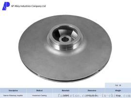 ISO9001:2008 兴宁奥浦熔模铸造泵体零件窄流道叶轮/福斯叶轮