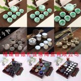 供应德化陶瓷茶具青花玲珑瓷茶具厂家直批可加LOGO