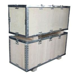 江阴泓昇木业生产1100*900免熏蒸钢边箱
