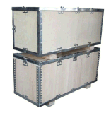 江陰泓昇木業生產1100*900免燻蒸鋼邊箱