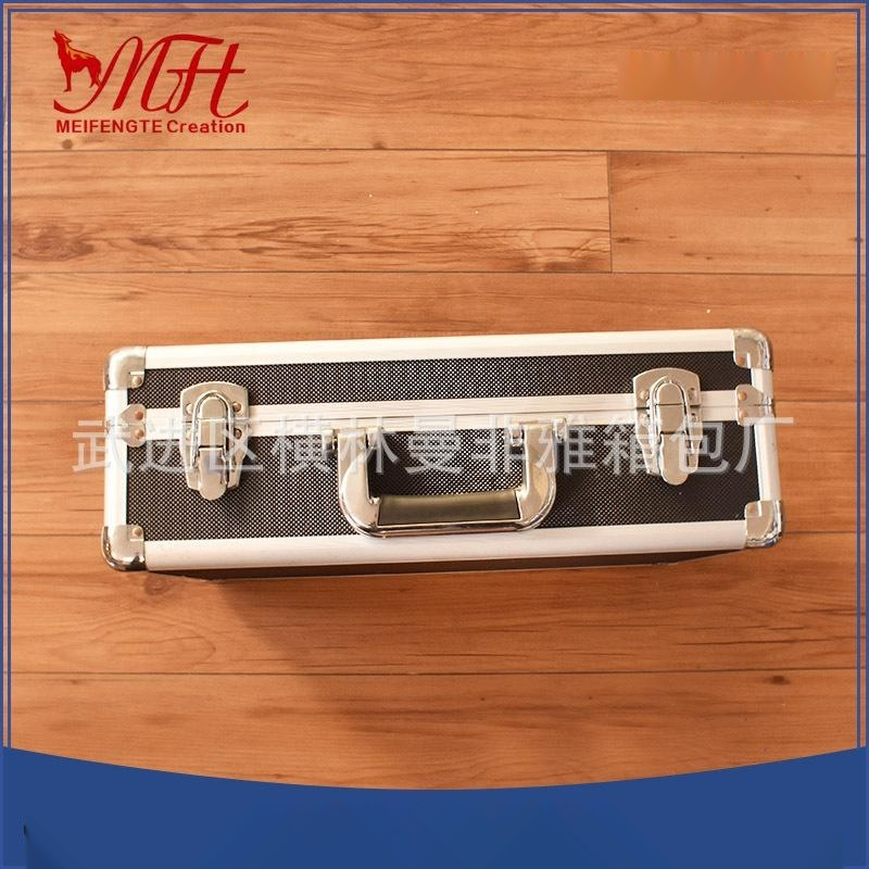 供应手提黑色密码锁工具箱 铝合金仪器箱 高档透明亚克力板展示箱