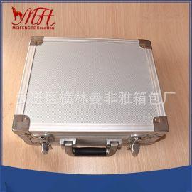 定做铝合金密码拉杆式工具铝箱 批发优质拉杆箱eva内衬移动航空箱