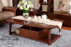 中式实木茶几小型办公茶桌 办公室会客接待茶几