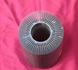 铝太阳花散热器 圆铝管 LED灯具铝型材 晶钢门铝材 屏风铝型材