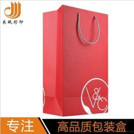 厂家供应**红酒手提袋单支装**红酒礼品袋白卡纸制高档手提袋