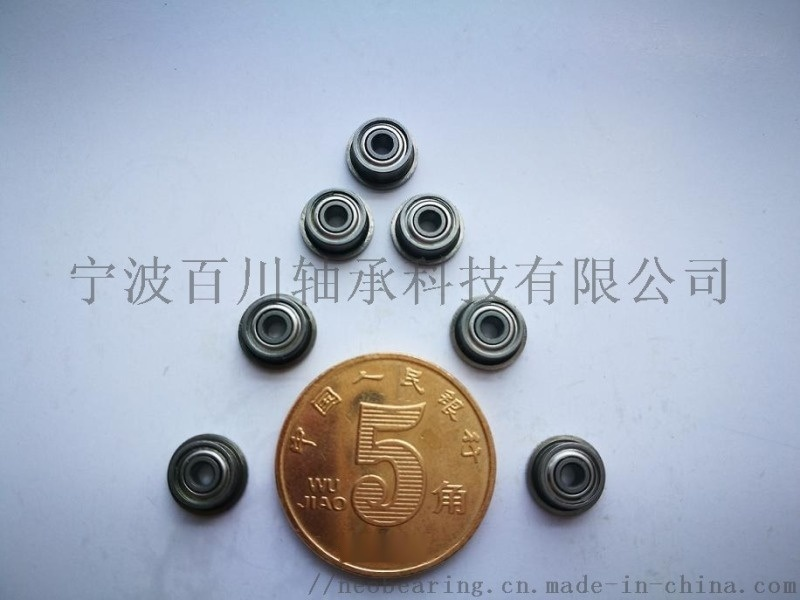 MF93 开式微型法兰轴承  尺寸参数