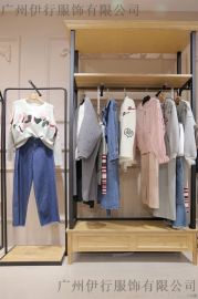 迪笛欧品牌女装折扣一手货源折扣女装 童装羽绒服尾货批发紫色皮衣