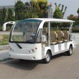 14座白色电动观光车