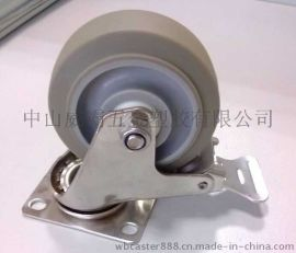 威霸304不锈钢超级人造胶TPR静音脚轮