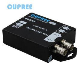 欧柏锐品牌OPR-HS405新款HDMI转3GSDI转换器1080p@60Hz广电级