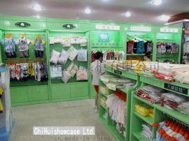 服装专卖店服装货架展示 木质版