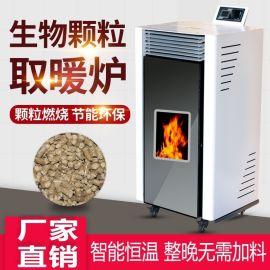 冬季家用颗粒炉 智能取暖炉 生物质颗粒采暖炉厂家