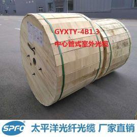 太平洋 GYXTY-4B1.3 4芯 双钢丝中心束管式室外光缆 厂家直销