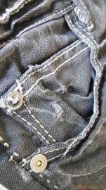 東莞工廠長期供應牛仔褲扣子工字扣 膠心工字扣