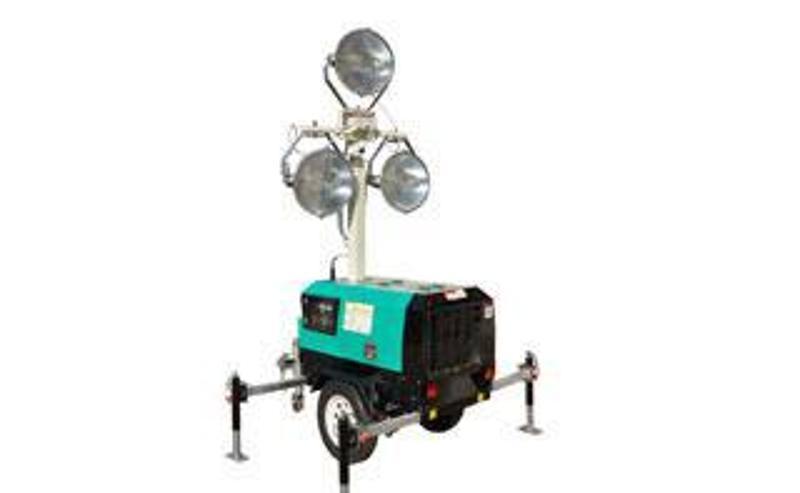路得威RWZM41C手動升降拖車式照明車(3*1000W)柴油發電機