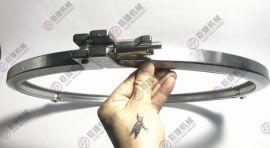 大量现货不锈钢精铸卡箍 大口径精铸卡箍 三节卡箍