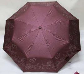 21寸自开防紫外线折叠伞三折伞自动伞