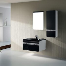夹板浴室柜 简约欧式洗手盆柜 陶瓷盆柜组合 FS066
