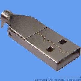 连接器 USB A/F 焊线式