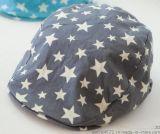 廈門帽子工廠,棉布五角星圖案鴨舌帽,男女款 鴨舌帽