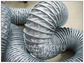 可压缩通风管,夹布灰色排烟管,高温排气管