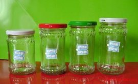 开发定做出口辣酱玻璃瓶,烤花辣酱玻璃瓶