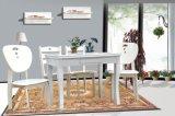 包邮小户型田园折叠桌时尚白色烤漆可伸缩多功能实木餐桌椅 6人
