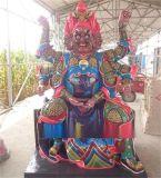 厂家直销玻璃钢树脂彩绘金神像佛 火神爷祝融图片 家供寺庙神像