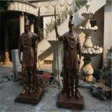 士兵门卫战士人物雕塑深圳欧泰斯被流浪狗艺术雕塑树脂工艺品厂家定制
