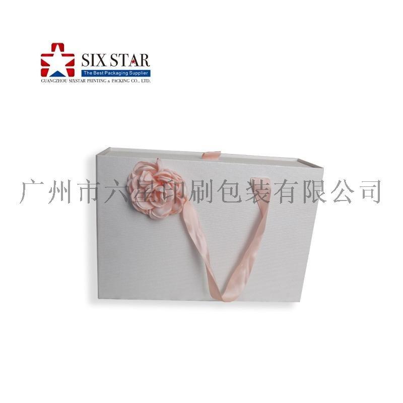 工厂定制**丝带修饰礼品盒抽屉盒精装盒设计印刷