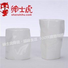 【绅士虎】创意骨质瓷唐山骨瓷简约个性喝水杯骨质瓷批发不带把喝水杯牛奶杯礼品