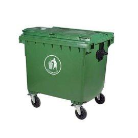 1100L塑料垃圾桶 垃圾收集车 环卫垃圾桶
