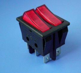 六钧新品大功率电暖器二档船形跷板开关 (SS31)