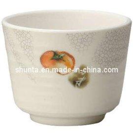 环保螺纹杯 密胺材质顺大出品 仿瓷餐具 密胺茶杯/水杯