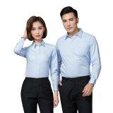定制男女职业衬衫长袖银行商务工作服白衬衣正装工装