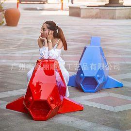 儿童趣味创意玻璃钢休闲椅 卡通商场玻璃钢休闲椅定做