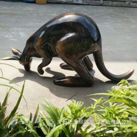 玻璃钢袋鼠雕塑定制 玻璃钢动物组合摆件 玻璃钢园林景观雕塑