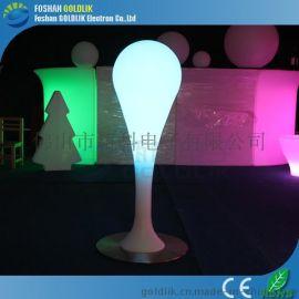時尚簡約節能LED發光音樂傢俱棒球落地燈七彩遙控