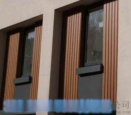 木纹背景墙凹凸长城铝板-金属墙木纹长身板