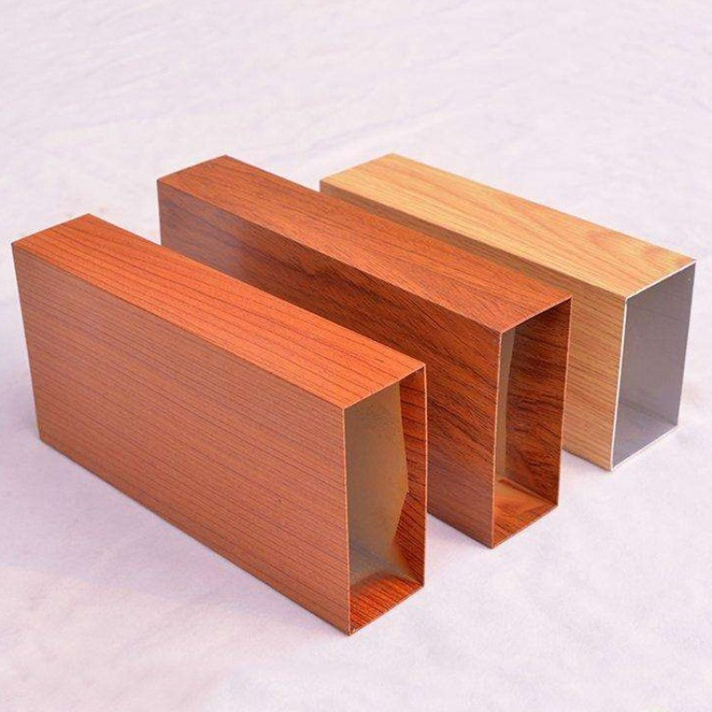 鋁方通   外牆裝飾木紋四方通  吊頂木紋鋁方通 U型鋁方通
