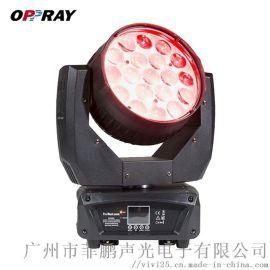 菲鹏声光LED 19颗15W四合一调焦染色摇头灯