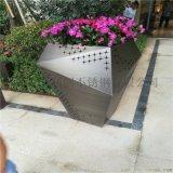 不鏽鋼落地組合花盆供應酒店裝飾花箱擺件