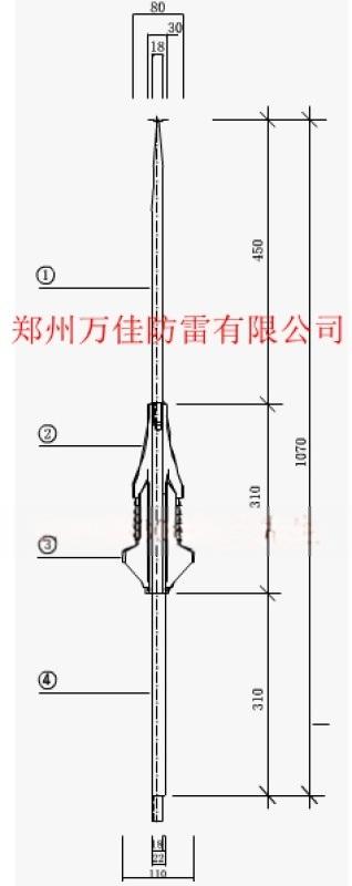 奥麦斯避雷针,奥麦斯O.MEX45提前放电避雷针