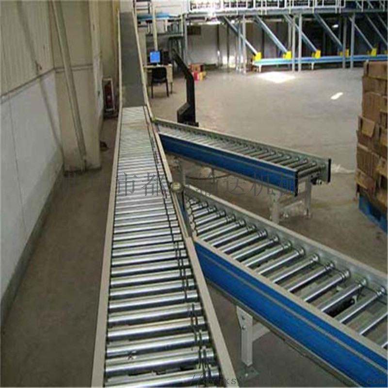铝型材倾斜输送滚筒 箱包流水线用滚筒输送机高承重xy1