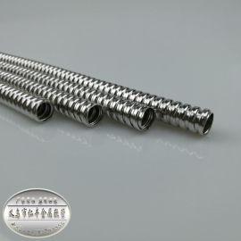 仁丰厂家直批金属波纹管单扣不锈钢穿线金属软管201