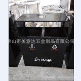 分类不锈钢垃圾回收筒 高档垃圾筒厂家定做