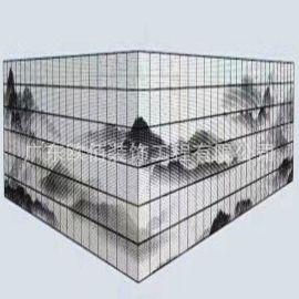 人物三水画造型排孔铝单板 UV打印彩绘铝单定制
